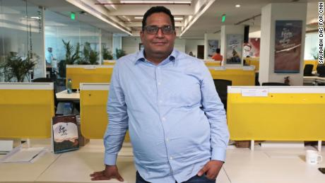 Vijay Shekhar Sharma, who built India's biggest digital payments company  Paytm, poses for a photograph at the company headquarters in NOIDA, India, Friday, Aug. 9, 2019. (Saurabh Das for CNN)