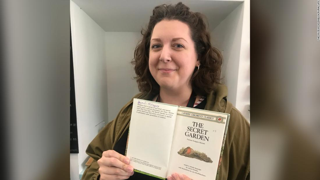 A woman read 'The Secret Garden' as a child, then gave it away. She just found her old book in a museum