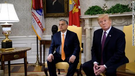 Hungary's Prime Minister Viktor Orban and President Donald Trump in the Oval Office on May 13, 2019.