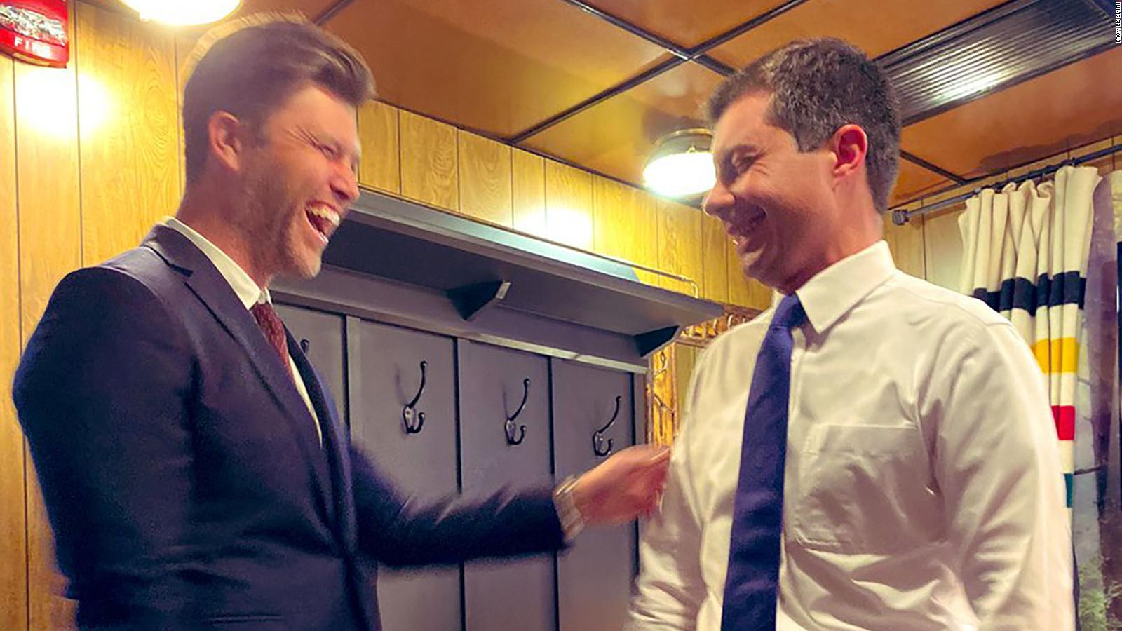 Pete Buttigieg And Colin Jost Former Harvard Dormmates Cross Paths Again Cnnpolitics