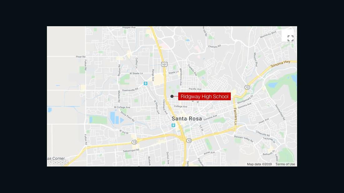 One wounded in shooting near Santa Rosa high school in California, suspect detained