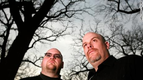 "Dave Schrader, right (with fellow ghost hunter Tim Dennis): ""A lot of these spirits have a story that needs to be told."""