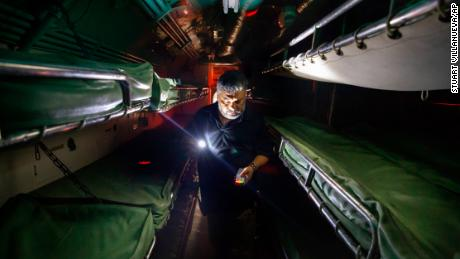 Joe Trevino, a paranormal investigator with G.H.O.S.T. Houston, sets up an all-night investigation inside the USS Cavalla submarine  in Galveston, Texas, in 2018.
