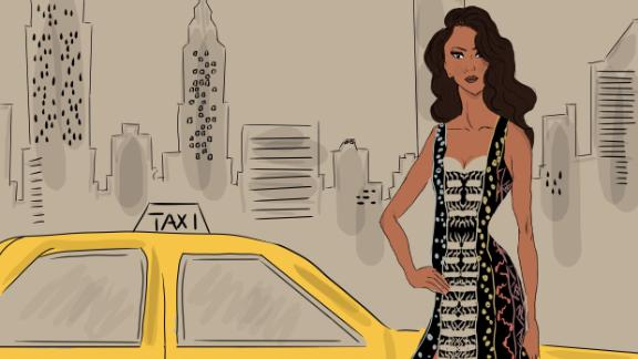Yellow cab: Inspired by the debut of fashion brand Maxhosa at the 2019 New York fashion week.