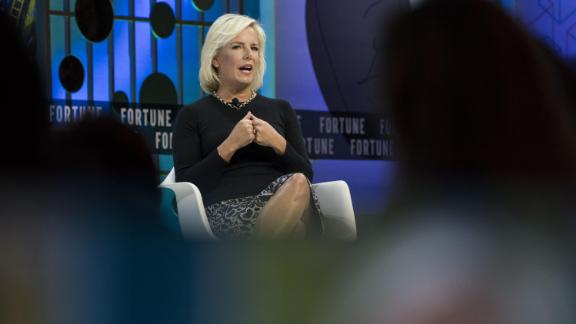Kirstjen Nielsen, former U.S. secretary of Homeland Security (DHS), speaks during the Fortune's Most Powerful Women Summit in Washington, on Tuesday, October 22.
