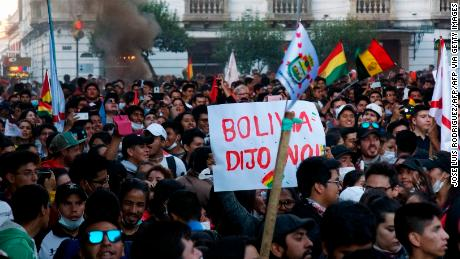 Tensions boil over in Bolivia as protesters claim presidential election was rigged
