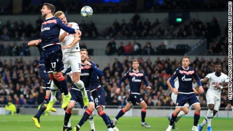 Harry Kane's flicked header at the near post gave Tottenham the early lead.