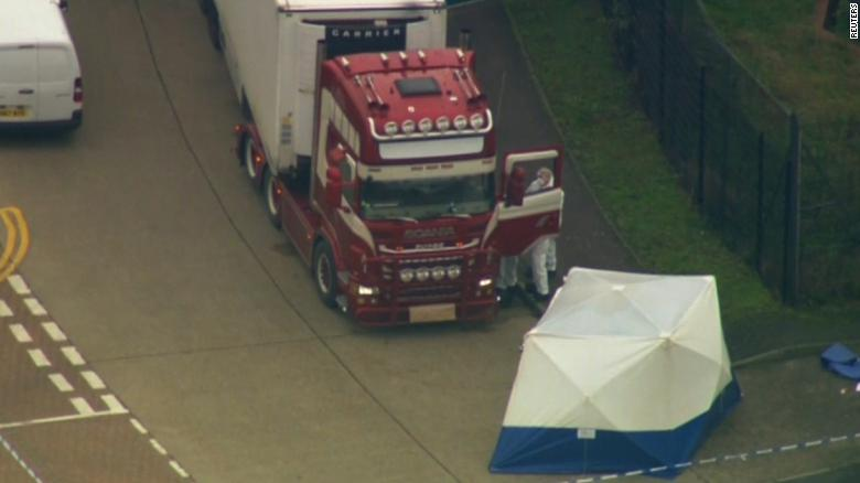 39 dead bodies found in a truck in Essex, southeast England
