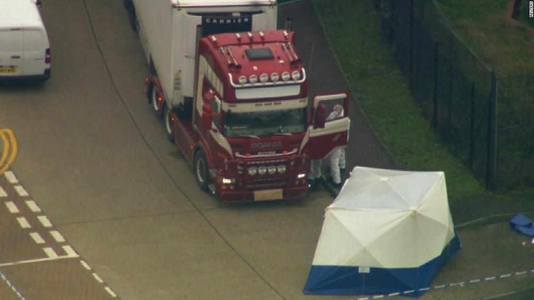 Murder probe after 39 bodies found in truck container in southeast England