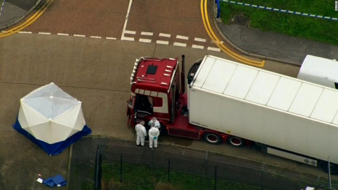 39 bodies found in a truck container in southeast England
