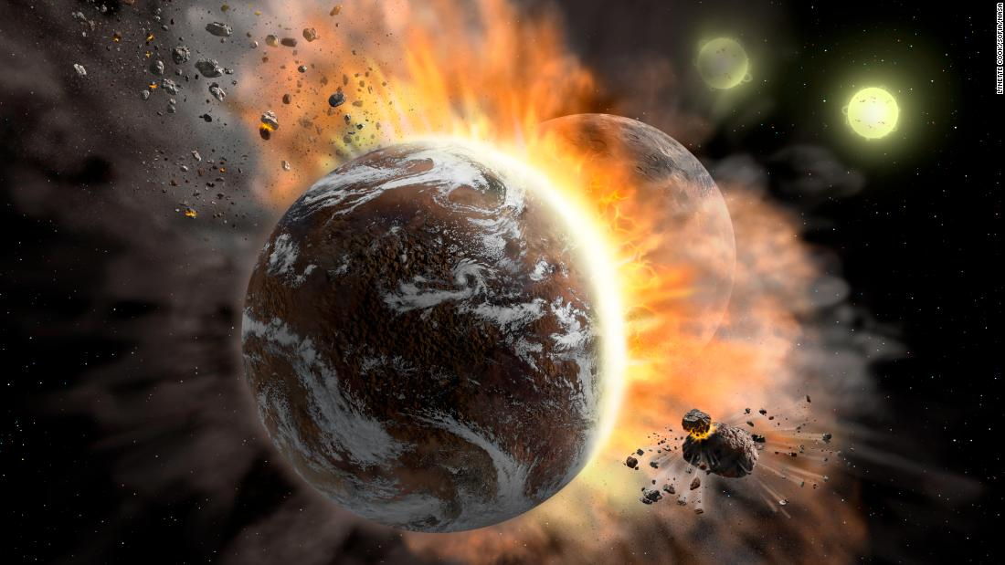 What happens when exoplanets crash into each other?