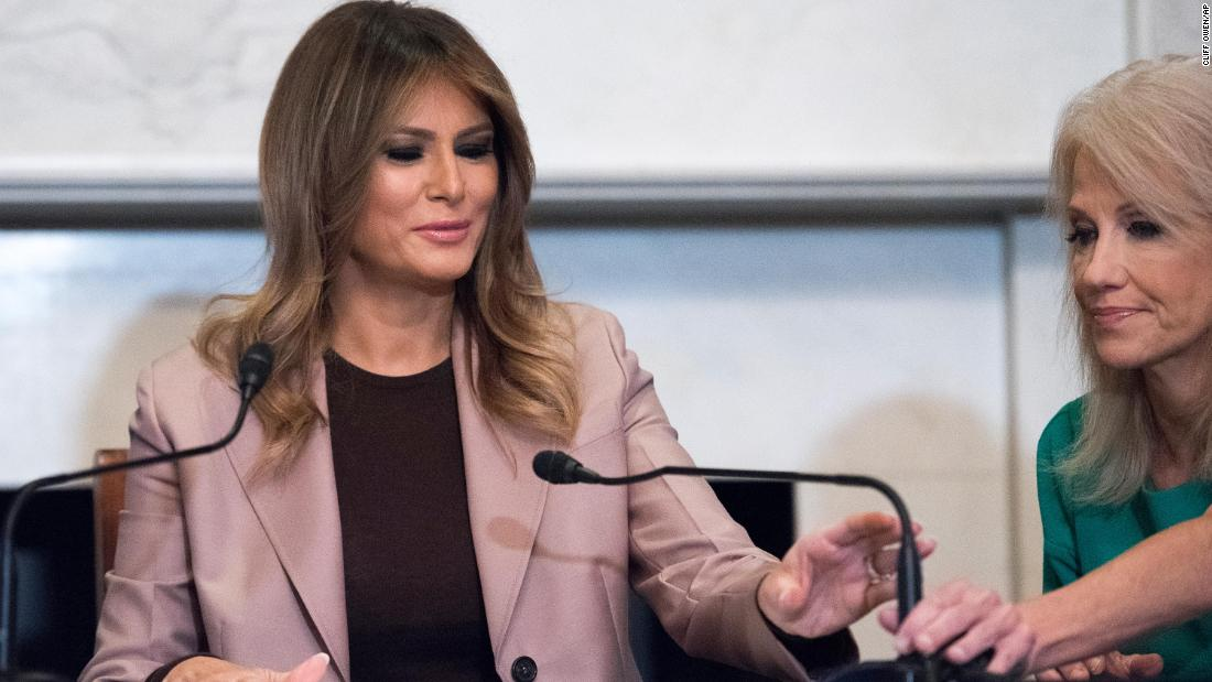Melania Trump receives warm welcome on first solo Capitol Hill visit amid Syria, impeachment drama - CNN