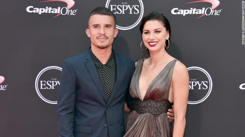 Morgan with her husband, Servando Carrasco.