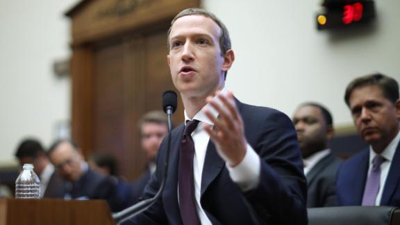WASHINGTON, DC - OCTOBER 23: Facebook co-founder and CEO Mark Zuckerberg testifies before the House Financial Services Committee in the Rayburn House Office Building on Capitol Hill October 23, 2019 in Washington, DC. Zuckerberg testified about Facebook