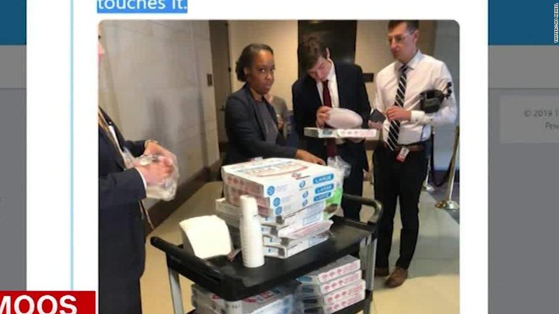 Republicans stormed a secure room. Then they ordered pizza