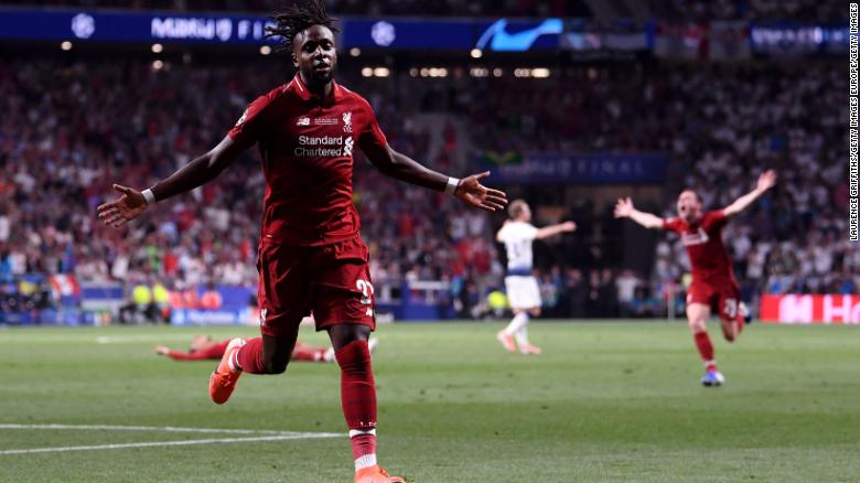 Divock Origi scored Liverpool's winning goal in the 2019 Champions League final.