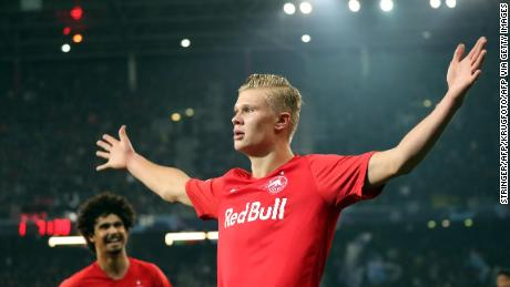 Erling Braut Håland  has scored 20 goals in 13 appearances for Salzburg so far this season.