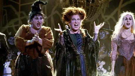 "The trio appear in a scene from the 1993 film ""Hocus Pocus."""