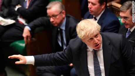 Boris Johnson answers questions in the House of Commons this week.