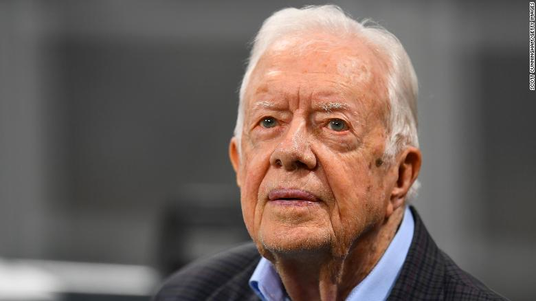 Jimmy Carter 'saddened and angry' over Georgia voting restriction efforts
