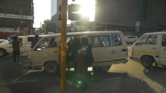 Taxibuses are the most common form of public transport in South Africa