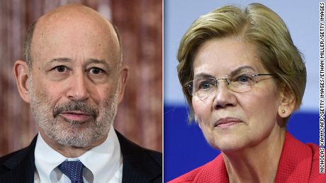 Lloyd Blankfein fears Elizabeth Warren wants 'cataclysmic change' for US economy