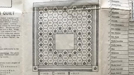 The original pattern for the quilt Rita Smith indended to make.
