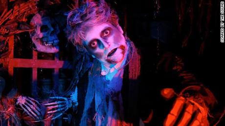 Behind the scenes of a haunted house attraction