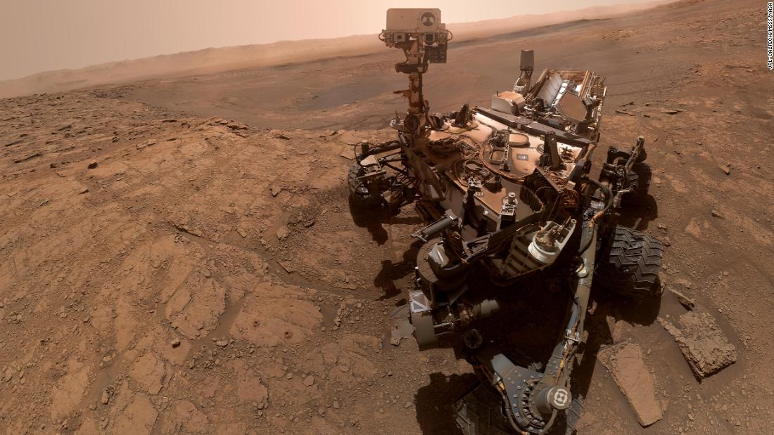 "NASA's Curiosity rover took this selfie on October 11, 2019, in the ""Glen Etive"" region."