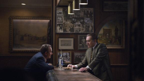 """""""The Irishman"""": Martin Scorsese gets the band back together with stars Robert De Niro, Al Pacino and Joe Pesci in this epic saga of organized crime in post-war America -- told through the eyes of World War II veteran Frank Sheeran, a hustler and hitman who worked alongside some of the most notorious figures of the 20th century. (Netflix)"""