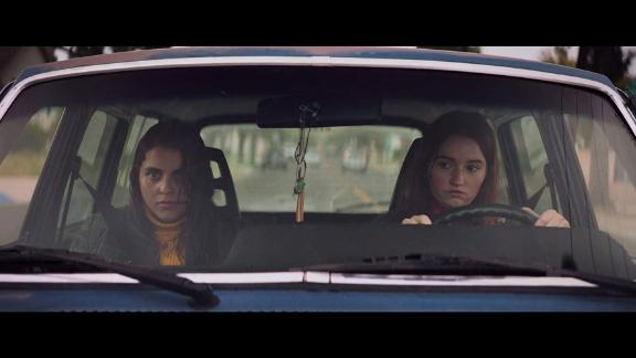 """""""Booksmart"""": On the eve of their high school graduation, two academic superstars and best friends realize they should have worked less and played more. Determined not to fall short of their peers, the girls try to cram four years of fun into one night. (Hulu)"""