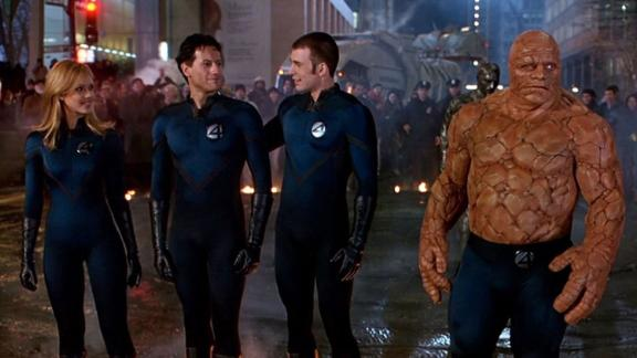 """""""Fantastic Four"""": A group of astronauts exposed to cosmic radiation gain superpowers which they use to try and put a stop to the plans of Doctor Victor Von Doom. (Hulu)"""