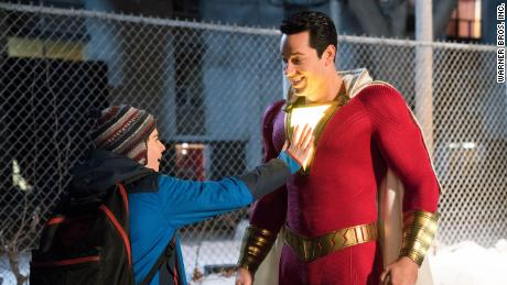 "Zachary Levi (right) stars as Billy Batson, an abandoned teen turned superhero, in ""Shazam!"""