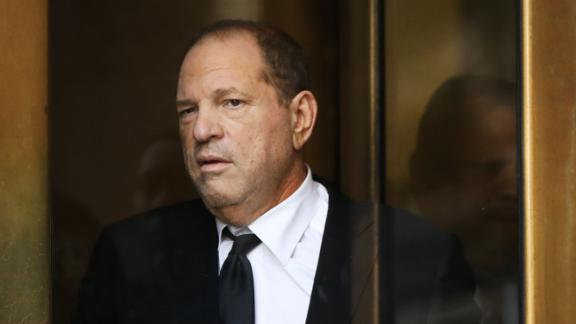 Harvey Weinstein exits court after an arraignment over a new indictment for sexual assault on August 26 in New York.
