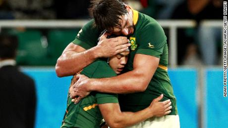 Cheslin Kolbe appeard half the size of teammate Eben Etzebeth but his contribution has been invaluable to the Springbok cause.