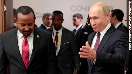 Russian President Vladimir Putin met with  African leaders, including Ethiopia's Prime Minister Abiy Ahmed on the sidelines of the 2019 Russia-Africa Summit.