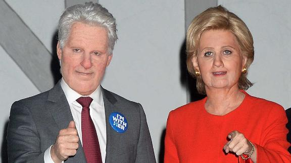 In 2016, Katy Perry employed the use of facial prosthetics to dress as Hillary Clinton.