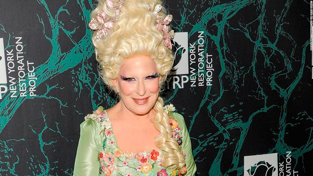 Bette Midler attended her 2017 Hulaween Benefit for the New York Restoration Project dressed as Marie Antoinette.