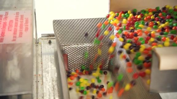 Skittles being made at Mars Wrigley's Yorkville, Illinois facility.