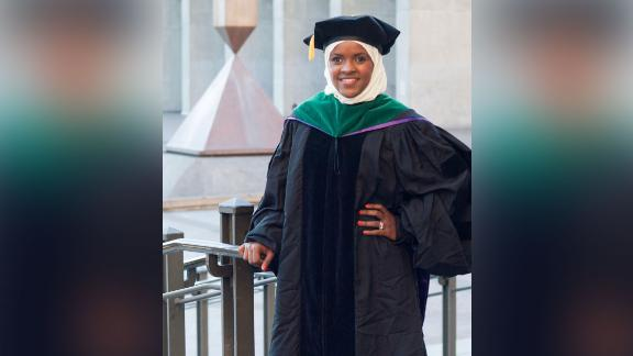 Dr. Anisa Ibrahim, picture on her graduation day, is now directing the same Seattle clinic that took care of her when she was a child and newly arrived refugee.
