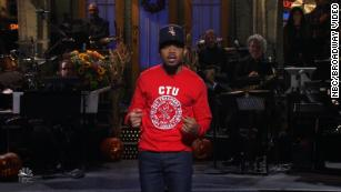 "Chance the Rapper showed support for the Chicago teachers on strike by wearing a Chicago Teacher's Union Sweatshirt when he hosted ""Saturday Night Live."""
