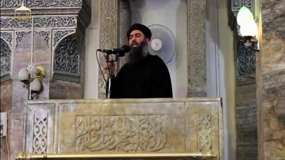 ISIS leader Abu Bakr al-Baghdadi appears in this video recording posted on the Internet on July 5, 2014.