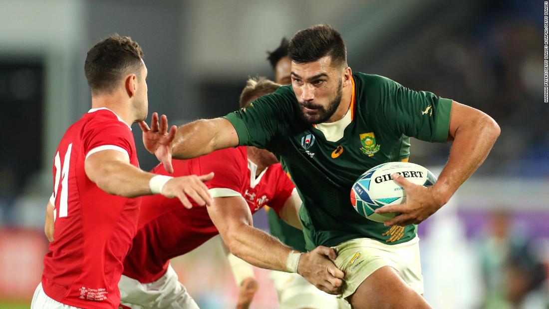Südafrika Kanten vergangenen Wales erreichen der Dritten Rugby-World-Cup-Finale
