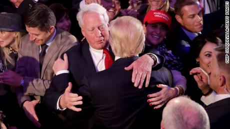 NEW YORK, NY - NOVEMBER 09:  Republican president-elect Donald Trump hugs his brother Robert Trump after delivering his acceptance speech at the New York Hilton Midtown in the early morning hours of November 9, 2016 in New York City. Donald Trump defeated Democratic presidential nominee Hillary Clinton to become the 45th president of the United States.  (Photo by Chip Somodevilla/Getty Images)