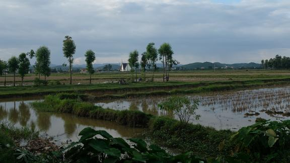 The district of Yen Thanh, in Nghe An province. Many families in this part of central Vietnam have close relatives who work overseas.