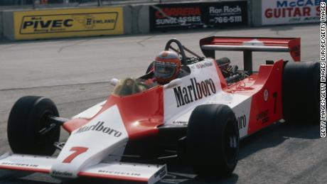 John Watson, seen here in his 1981 McLaren, found it hard to find a rhythm in Vegas