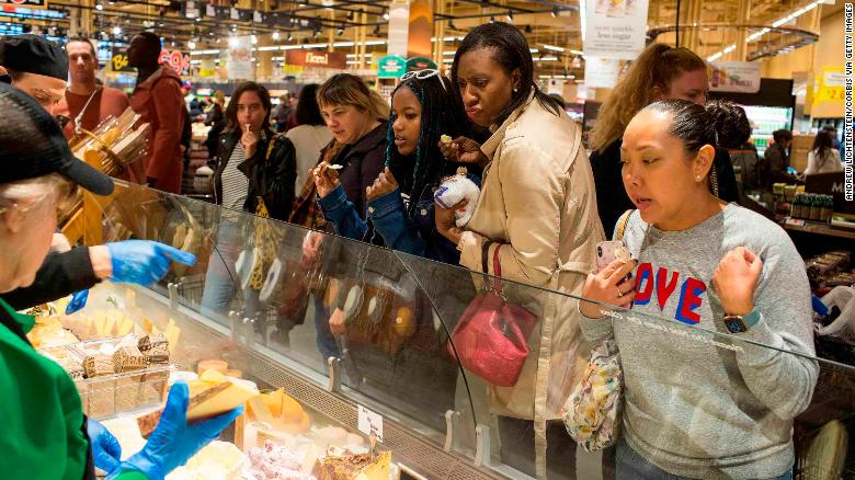 Wegmans in Brooklyn opened Sunday and attracted long lines.