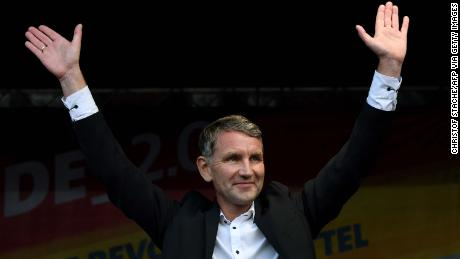 Alternative for Germany's Thuringia state leader, Björn Höcke, during the election campaign.