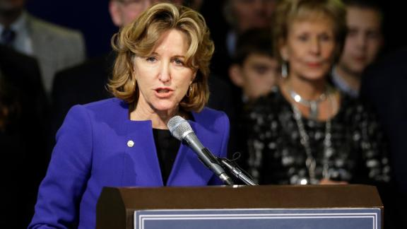 Sen. Kay Hagan, D-N.C., delivers her concession speech during an election night rally in Greensboro, N.C., Tuesday, November 4, 2014.