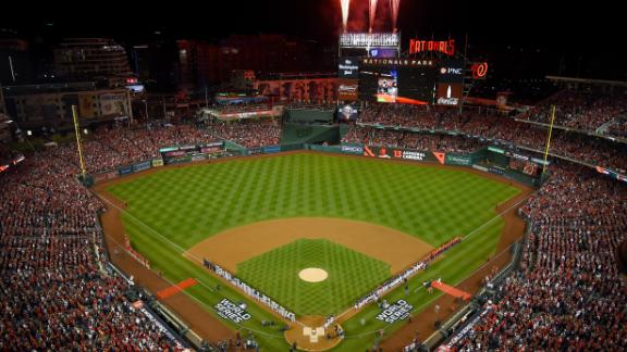 An overview of Nationals Park before it hosted its first World Series game.